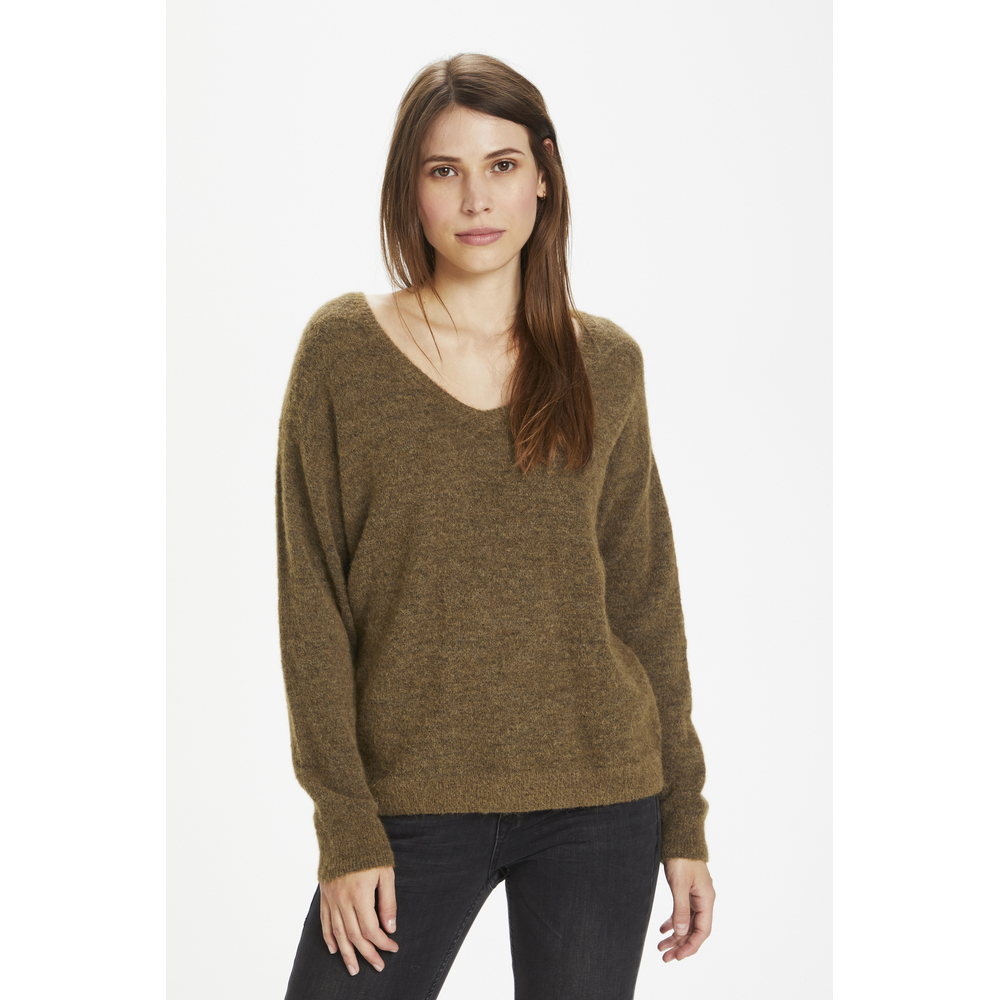 Cream Brown pullover Cream