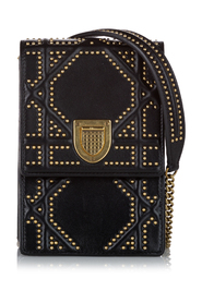 Pre-owned Diorama Studded Leather Crossbody Bag