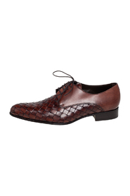 Woven Leather Lace Derbies
