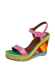 Pre-owned Wedge Ankle Strap Sandals