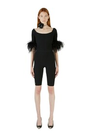 Feather Trimmed Playsuit