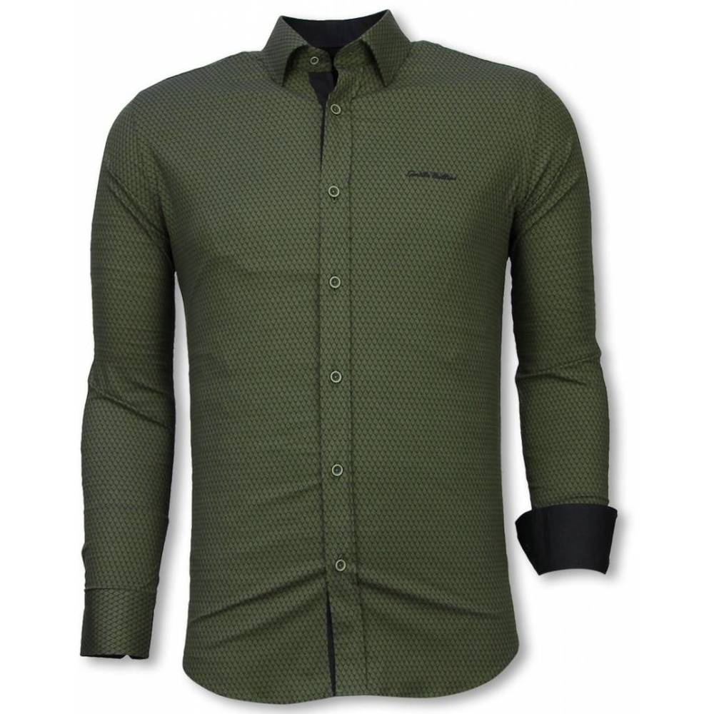 Slim Fit Shirt Reptile Skin Pattern