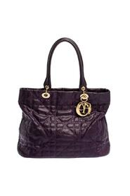 Pre-owned Cannage Quilted Coated Canvas and Leather Lady Dior Tote