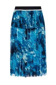 Plisowana spódnica z nadrukowanym wzorem
