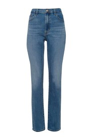 Teagan High Rise Straight Uncharted Jeans
