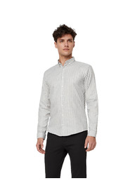 Mouliné long-sleeved shirt