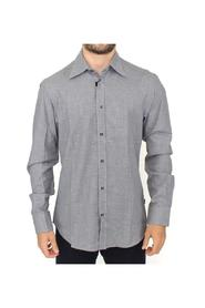 checkered cotton button shirt