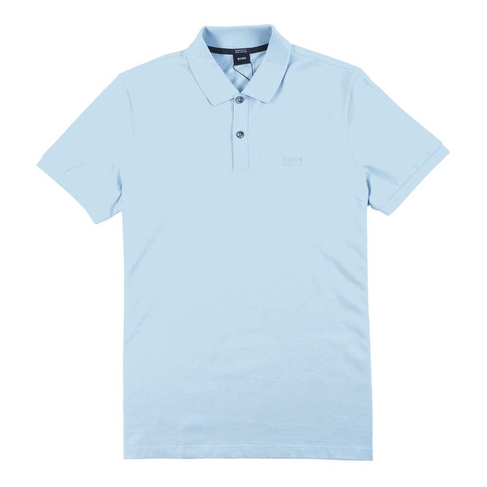 bff122d8a Light Blue Regular Fit Pima Cotton Polo | Hugo Boss | Koszulki polo ...
