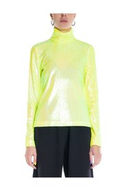 MM6 Sequin Turtleneck Top