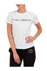 T-Skjorte Med Korte Ermer Crew Hals Runde Graffiti Logo