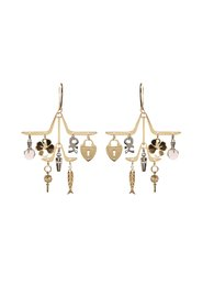 Earrings with decorative charms