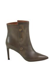 Leather Stiletto Booties