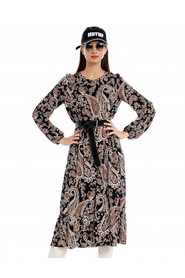 Sukienka Iman brązowo-czarna