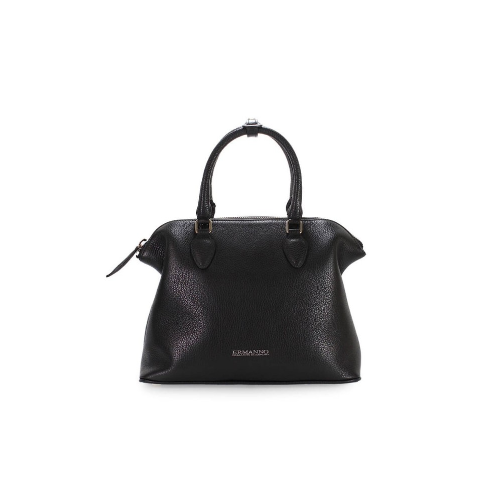 BUGATTI DANIELA BLACK LEATHER TOTE BAG