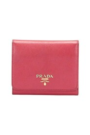 Pre-owned Saffiano Tri-fold Wallet Pink