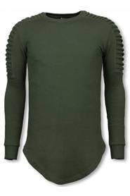 Longfit Sweater Biker Shoulder