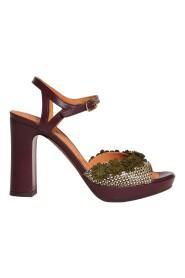 Sandalo Calico a tacco medio con decorazioni applicate