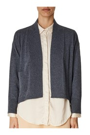 buttonless cardigan with side pocket