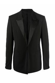 JACKET IN WOOL AND MOHAIR WITH SATIN COLLAR