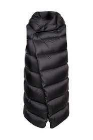 Long quilted down vest