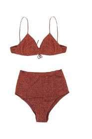 Metallic effect bikini set