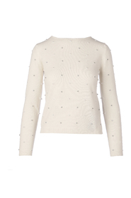 DOLMEN PEARLS AND STONE SWEATER