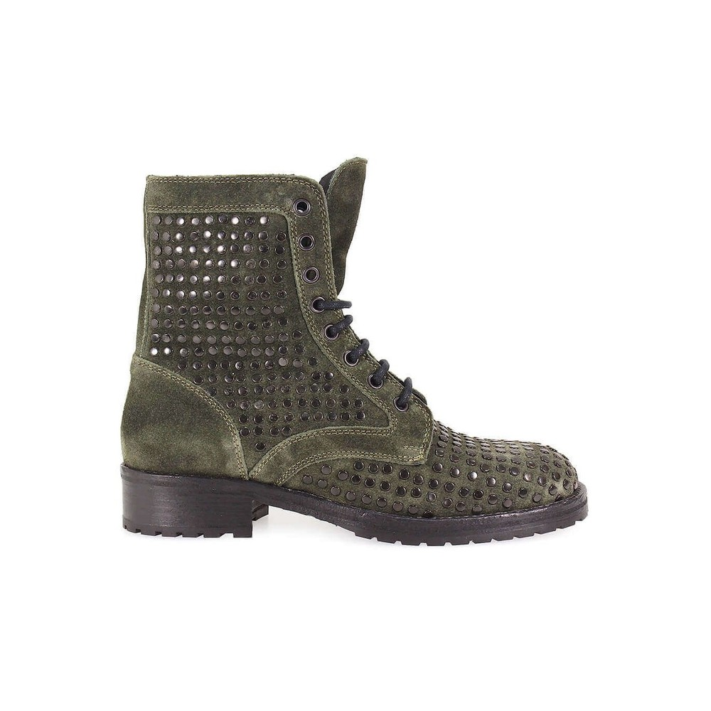 LEMARÉ STUDS GREEN SUEDE BOOT