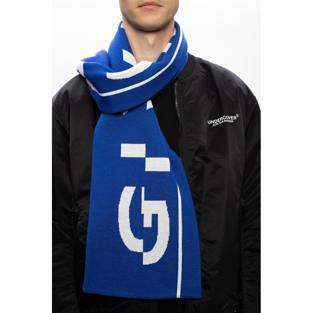 NAVY BLUE Wool scarf with logo | Givenchy | Sjaals | Heren accessoires