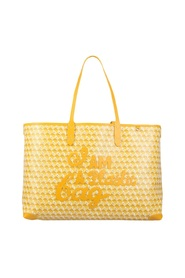 TOTE BAG WITH I AM A PLASTIC BAG PATTERN
