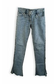 Italy Shield Denim Jeans with Zip