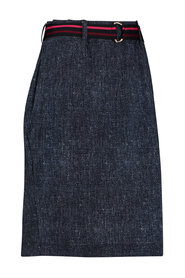 Studio Anneloes 02505 Straight tweed skirt Dark blue / ivory