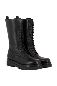Half-height combat boots in leather