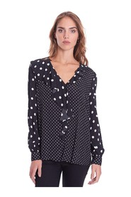 POLKA DOT SHIRT WITH ROUCHES