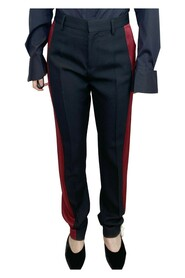 tailored trousers with red satin side stripe