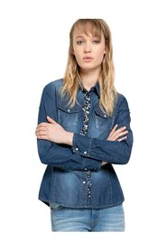 Denim Shirt With Applications