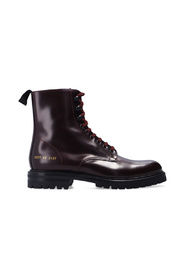 Combat leather ankle boots