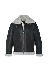 LC1259 B-3 leather and wool bomber jacket