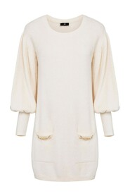Chenille dress with wide sleeves