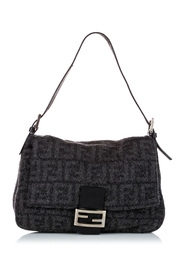 Pre-owned Zucca Mamma Forever Wool Shoulder Bag