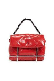 Red Halo Leather Crossbody Bag