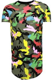 Exclusive Color Army Print - T-Shirt