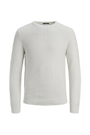 Knitted Pullover Textured crew neck