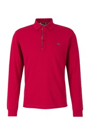 Polo shirt with long sleeves