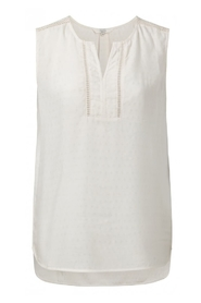 YAYA - Top with lace trims - Off White