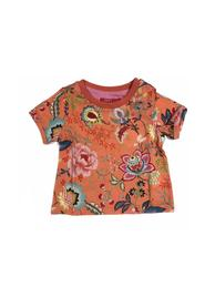ROUND NECK T-SHIRT WITH FLORAL PATTERN