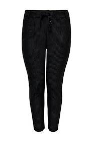 Trousers Curvy pinstriped