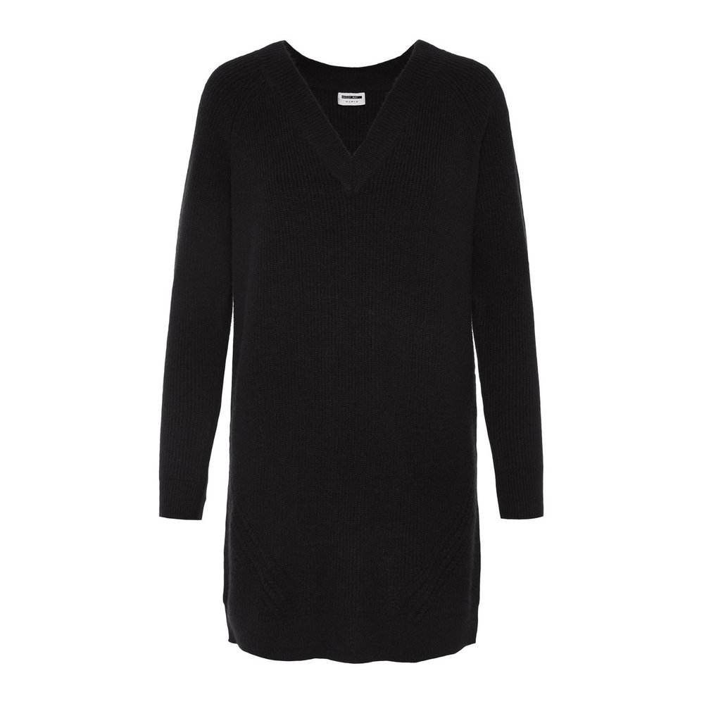 Knitted Pullover Long V-Neck