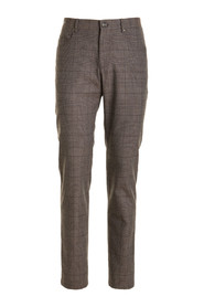 5-pocket checked trousers