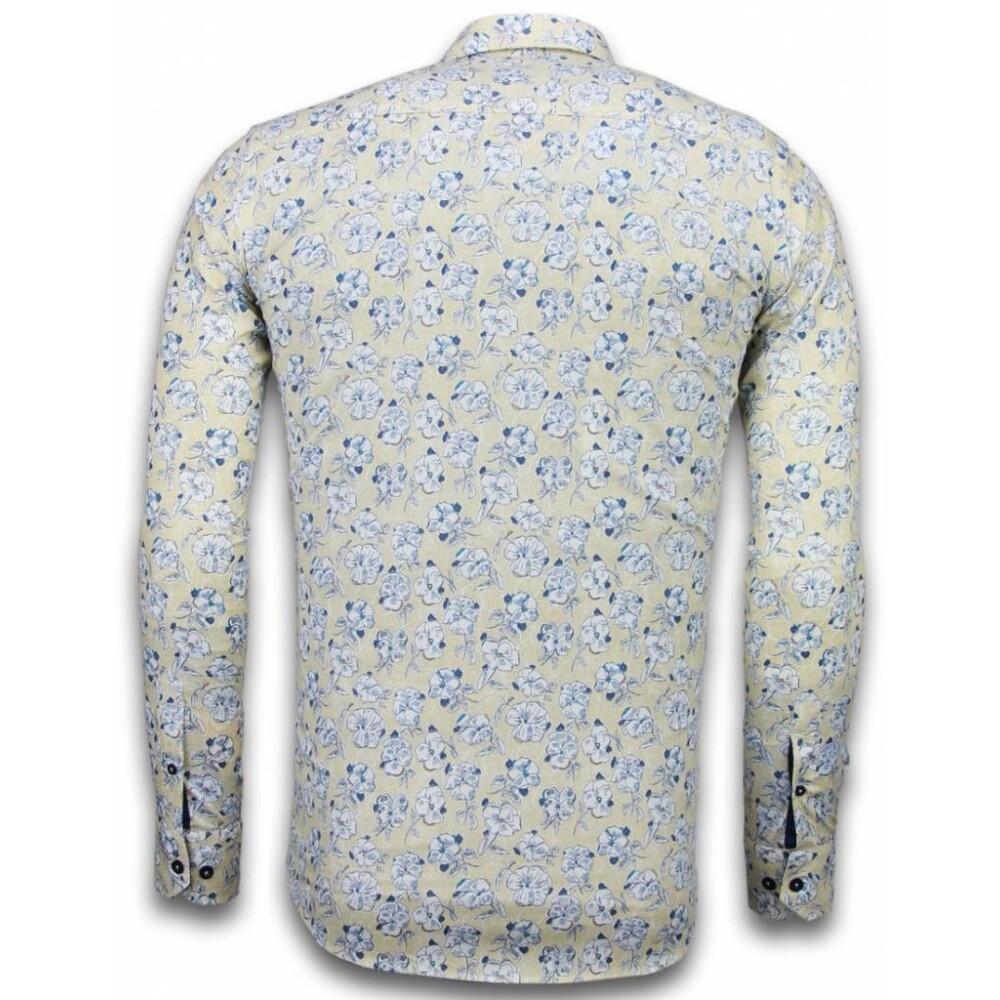 Beige Blouse Drawn Flower Pattern   Tony Backer   Koszule na co dzień - Najnowsza zniżka p2W3e