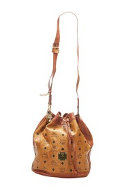 Visetos Leather Drawstring Bucket Bag